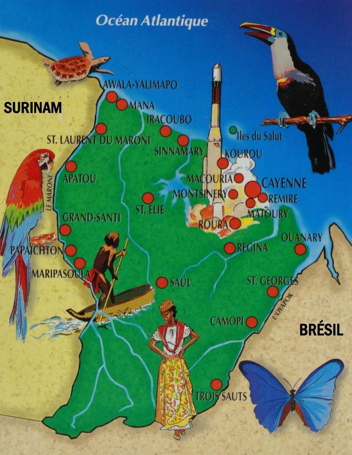 Carte postale de la Guyane française - Copyright Éditions GRAND SUD